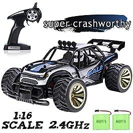 SGILE Auto Telecomandata, 2.4 GHz 15 km/h Auto Giocattolo ad Alta velocità, con 2 Batterie Caricabile, Regolo per Bambini