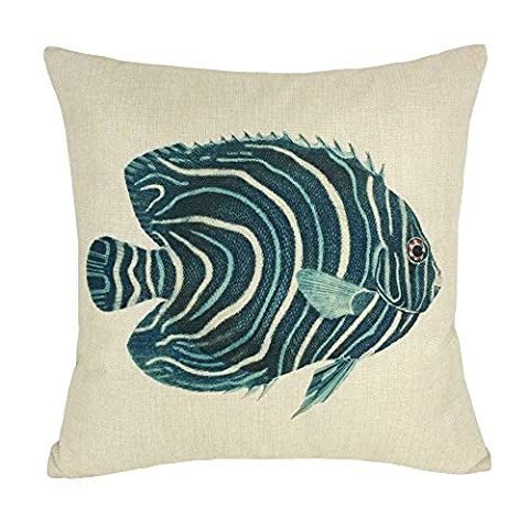 Coolsummer Goldfish Whale Shark Fish Jellyfish Pattern Design Linen pillow cases Contracted American Style Decorative as Cover Pillowcase for Sofa 18