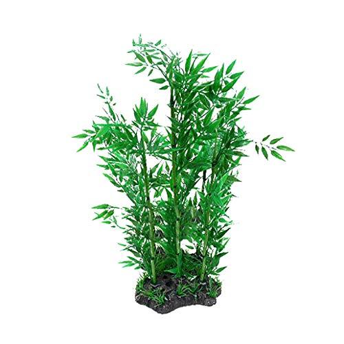 collectsound Künstliche Pflanze für Aquarien, Bambus, Wasser, Gras, Plastik, 2 -