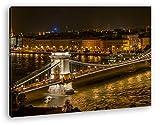 deyoli Kettenbrücke im schönen Budapest im Format: 80x60