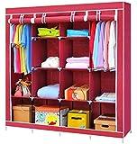 Lukzer 6 + 6 Shelves Waterproof Portable Collapsible Wardrobe Storage Organiser, Multipurpose Easy to Assemble 12…