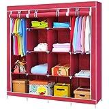Lukzer 6 + 6 Shelves Waterproof Portable Collapsible Wardrobe Storage Organiser, Multipurpose Easy to Assemble 12 Shelves Clo