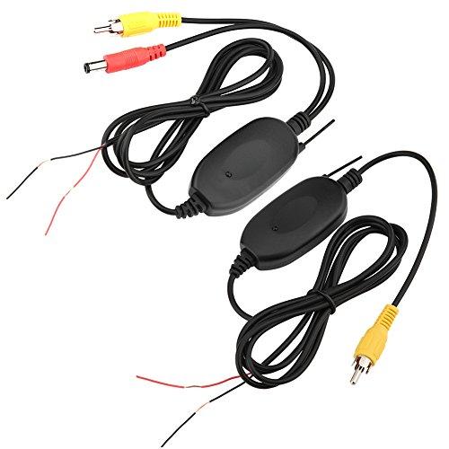 Richer-R WiFi Auto Sender Empfänger, 2.4GHz WiFi Transmitter Empfänger Video Wireless Sender,Kabellos Empfänger Auto Kamera Wireless Modul für Rückfahrkamera Kleinlastwagen PKW(AV Schnittstelle) (Video-empfänger)