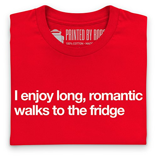 Romantic Walks to the Fridge T-shirt, Uomo Rosso