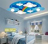 GGO Regenbogen Kinderzimmer Lichter LED Jungen und Mädchen Deckenleuchten Schlafzimmer Lichter 73 * 40 * 12cm Cartoon