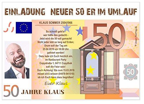zum 50. Geburtstag mit Spruch - coole, lustige und witzige Karten - Wunschtext - 80 Stück in DIN A6 (148 x 105 mm) ()