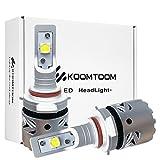 KOOMTOOM LED Kit Scheinwerfer Lampen 9012 / HIR2 Umbausatz Cree XHP70 Chip Design Objektiv Hi / Lo Strahl All-in-One 6500K 12.000LMs (2 Stück)