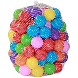 ZZM 100 Bolas de Colores Plástico Pelotas Multicolores del Océano respetuoso del medio ambiente de colores de plástico suave piscina de agua Ocean Wave Ball Baby juguetes divertidos Stress Air Ball deportes de la diversión al aire libre