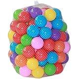 ZZM 100 Bolas de Colores Plástico Pelotas Multicolores del Océano respetuoso del medio ambiente de colores