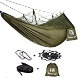 Loonfree Camping Hammock with Mosquito Net - 2 Person Portable High Strength Outdoor