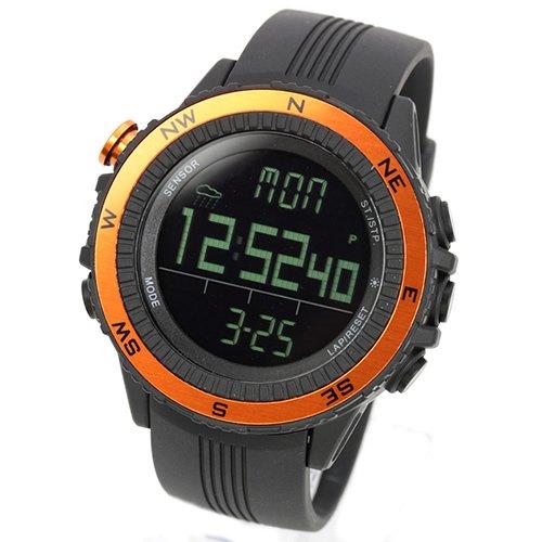 [LAD WEATHER] Deutscher Sensor Digitaler Kompass Höhenmesser Barometer Chronograph Wettervorhersage Outdoor Sportuhr Bergsteigen Laufen Herren Armbanduhr