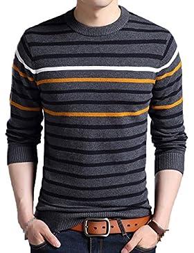 Suéter De Punto Redondo De Hombre Con Cuello Redondo Suéter De Punto Grueso Con Cuello Redondo Cálido Para Niño...