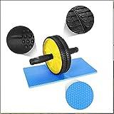 CDW Ab Rollrad, Fitnessraum Premium Ab Rollrad + Kniepolster Für Bauchübungen-Dual-Wheel-Fitnessgeräte-Perfekt Für Bauch Stärken Und Toning-Fitness