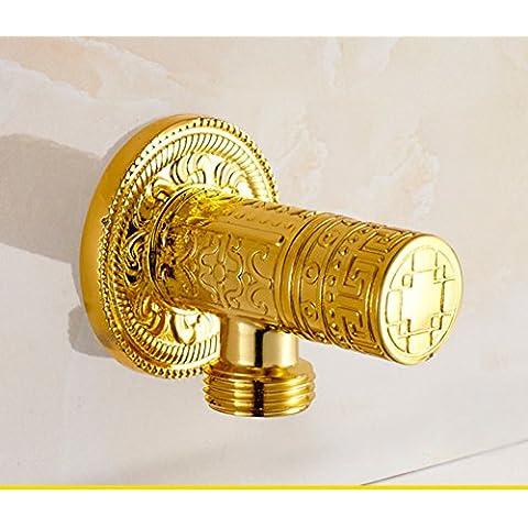 Full Art cobre antiguo válvula de ángulo de cobre/alivio Europea/válvula de cobre Triángulo/resfriado común/válvula de sellado-A