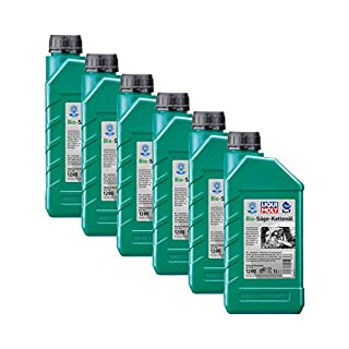 6x LIQUI MOLY 1280 Bio Säge-Kettenöl Pflanzliche Basis KWF geprüft 1L
