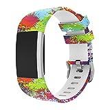 Magiyard Fitbit Charge 2 Bracelet de rechange souple en silicone ajustable, pour le sport Multicolore B