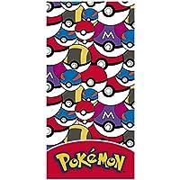 Pokemon 2200-2389 Telo Mare, Spiaggia, Asciugamano, Cotone, 70 X 140 Centimetri, Pokeball, Pikachu