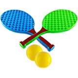 Wishkey Blue And Green Tennis Racket 16 Inch Set Of 2 With Two Ball And Cover For Kids