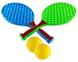 #8: Wishkey Blue and Green Tennis Racket 16 inch Set of 2 with Two Ball and Cover for Kids