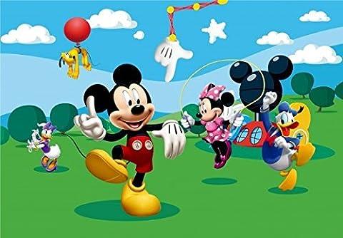 Fototapete Tapete Disney Mickey Mouse Micky Maus Kindertapete Foto 360 cm x 254 cm