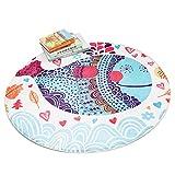 Kinder Spielmatten Cartoon Tiere Kinder Krabbeln Decke Teppich Baumwolle Runde Boden Teppich Baby...