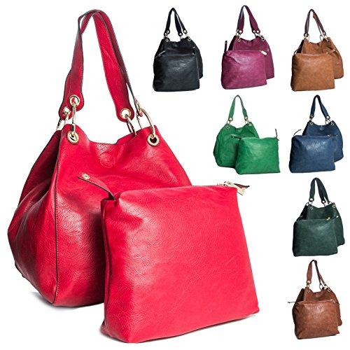 Big Handbag Shop - Sacchetto donna (bianco)