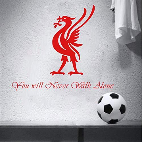 pool Wandtattoo Football Club Lyric Inspiration Zitat - Sie Werden Nie Alleine Gehen Football Team Decals Kunst ZubehörA ()