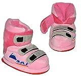 Unbekannt Hausschuhe - als rosa Skischuhe - SUPERWARM - Gr. 19 - 20 - circa Baby 6-12 Monate - gefütterte Plüschhausschuhe / Boots / Hausstiefel / Hausschuh Stiefel war..