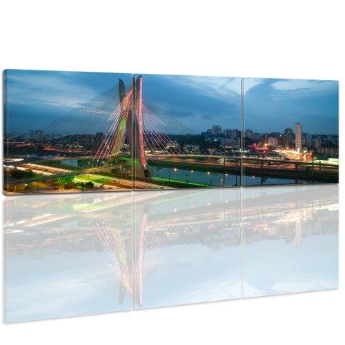 bilderdepot24-bastidor-imagen-cuadros-en-lienzo-puente-sao-paulo-brasil-240x80cm-3-partes-panorama-m