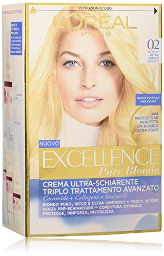 L'Oréal Paris Excellence Crema Colorante Triplo Trattamento Avanzato, 02 Biondo