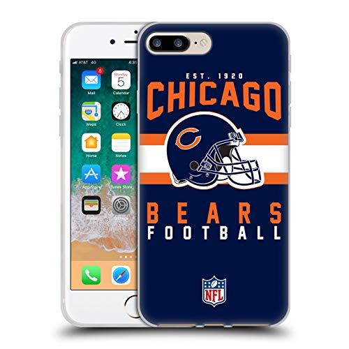 Head Case Designs Offizielle NFL Helm-Buchdruckerkunst 2018/19 Chicago Bears Soft Gel Hülle für iPhone 7 Plus/iPhone 8 Plus