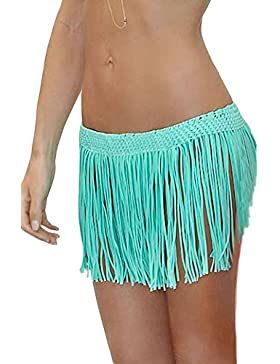 Nuova gonna da donna Mint frange Beach cover Up Swimwear Beachwear estate taglia 8–10