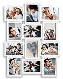 levandeo Bilderrahmen Weiß 12 Fotos 13x18 cm Hochformat Querformat Fotogalerie Collage Fotorahmen Bildergalerie Fotocollage Galerie Wanddeko