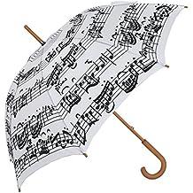 Blooming Paraguas Paraguas de Blanco y Negro de Notas Musicales – Negro Notas Sobre ...