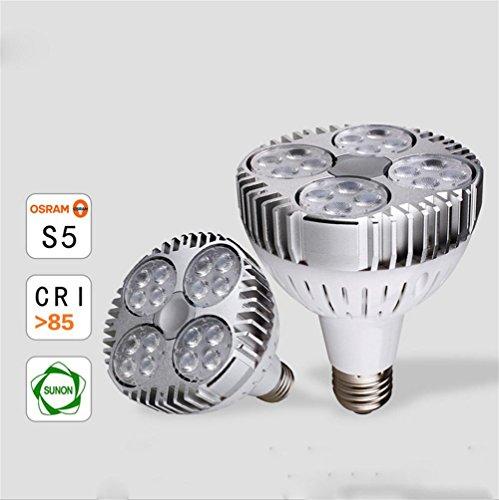 OOFAY 2PCS E27 35W LED PAR30 16 Kopf leuchtet Leistungs-Lichter 2300-2700LM AC 85-265V , 3000k -