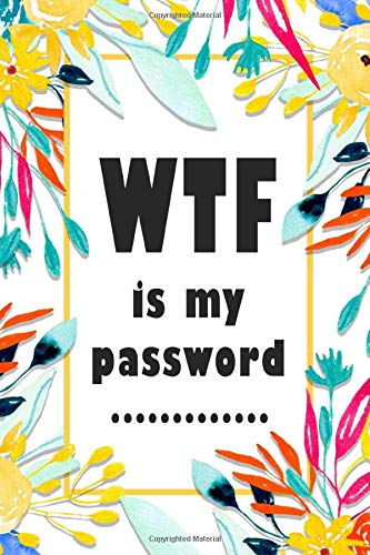 password logbook: with Alphabetical Tabs / A Notebook for to note your password, email address, log in / usernames and website names : colorful tropical floral cover