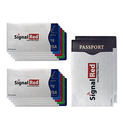 fiber-passport-and-credit-card-protector-set-of-10-credit-card-and-2-passport-rfid-blocking-sleeves-