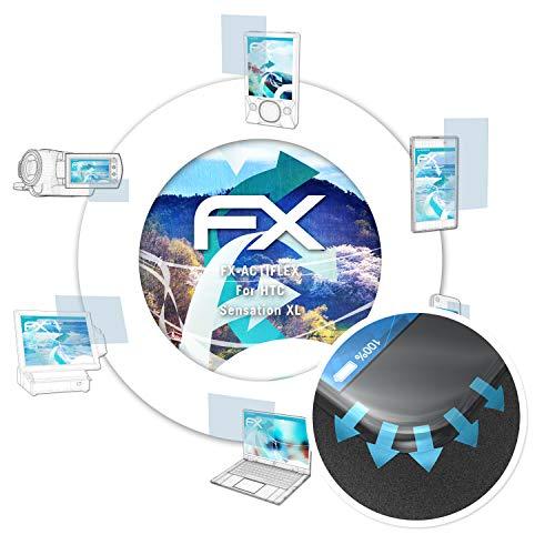 atFoliX Pellicola Protettiva Adatto per HTC Sensation XL Pellicola Proteggi, Ultra Chiaro e Flessibile FX Protezione Pellicola dello Schermo (3X)
