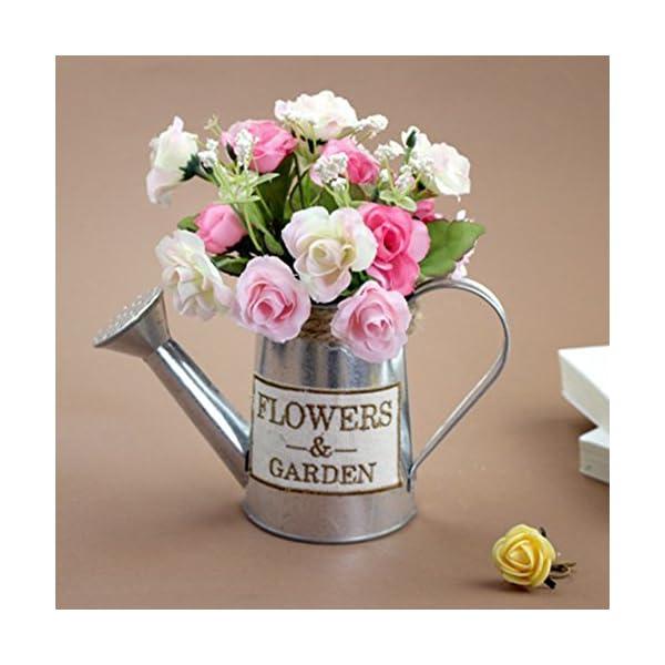 JUNGEN Jarrón Decorativo Creativo florero del Hierro de la Vendimia florero de Forma de hervidor Decoración Simple para…