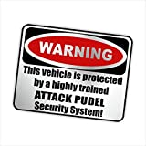 Siviwonder Auto Aufkleber PUDEL WARNING ALARMANLAGE Hundeaufkleber silber metallic