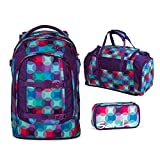 Satch Schulrucksack-Set 3-TLG Pack Hurly Pearly Bunt