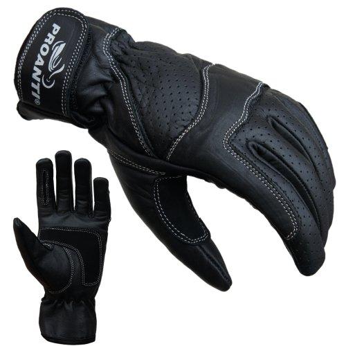 Damen Motorradhandschuhe von PROANTI Damen Leder Motorrad Handschuhe Gr. S-L