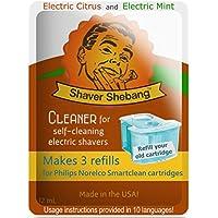 24 recargas para cartuchos Philips Norelco SmartClean - Cítrico y Menta - 8 soluciones limpiadoras Shaver Shebang - sustitutos de SmartClean