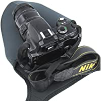 Travel Neoprene Camera Case Bag soft Protector for DSLR with Lens,Canon EOS 1300D 1200D 100D 200D 800D,750D 700D,77D,70D,80D,7D SX60 SX540, Nikon D3400,D3300,D3200,D5600 D5500,D7200,D7500, Panasonic FZ82, FZ2000,Sony Alpha a7,a9,OLYMPUS Pentax DSLR - Size Large L.