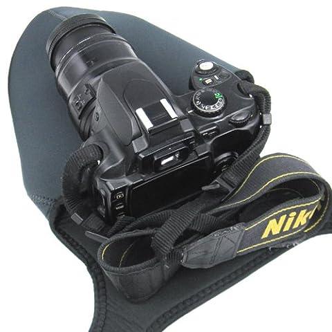 Travel Neoprene Camera Case Bag soft Protector for DSLR with Lens,Nikon D3400,D3300,D3200,D3100,D3000,D5500,D5300,D5200,D5100,D7200,D7100,D7000,D810 D800,D750,D700,D610,D600,D300,D90,D80 D60 & more DSLR - Size Large L.