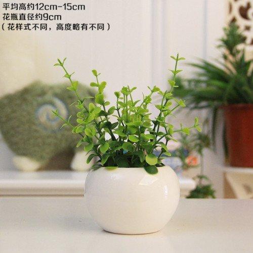 ünstliche Blumen Paket Mini Topfpflanzen Wohnzimmer, Schlafzimmer, grüne Blätter der (String Der Blätter)