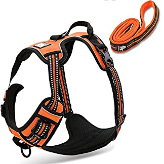 fiE FIT INTO EVERYWAY Range Of Front Side No Pull Dog Harness Outdoor Adventure 3M Reflective Pet Vest with Handle… 22