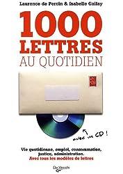1000 lettres au quotidien (1Cédérom)