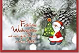 metalum Premium-Weihnachtskarte in tollen Farben mit ausgefallener, sehr filigraner, 2-dimensionaler Papierverzierung in Form eines kleinen Weihnachtsmanns - nun kann es Weihnachten werden!