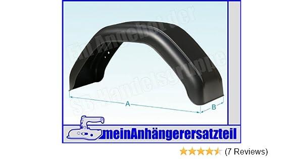 2 x Kotflügel Stahlblech Metall Breite = 220mm Spannweite = 750mm f Anhänger Set